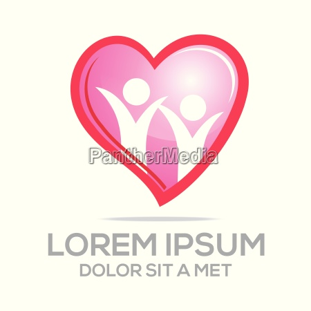 logo love vector people heart
