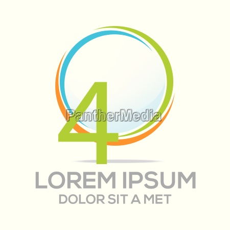 logo four vector number