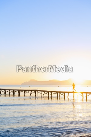 spain balearic islands majorca man jogging