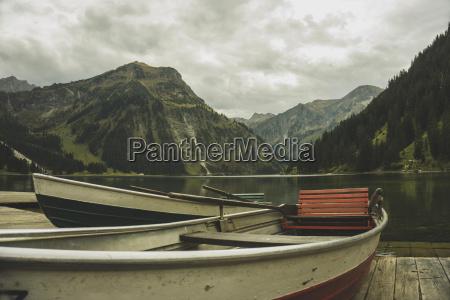austria tyrol tannheimer tal boats at