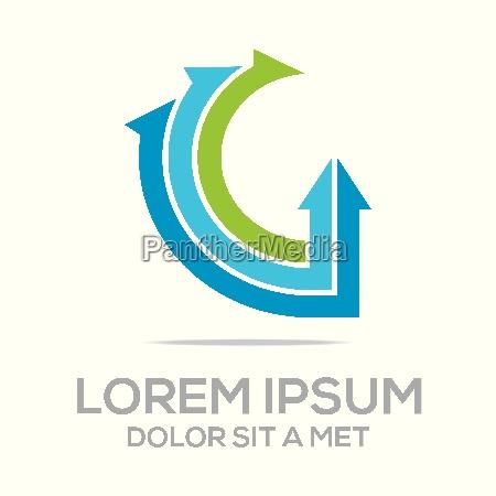 logo vector letter design element eco