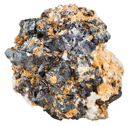 crystals of galenite and sphalerite in