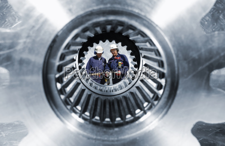 engineering and large cogwheels and gears