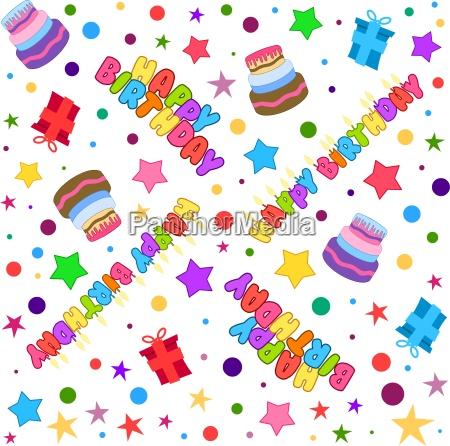 happy birthday pattern colorful