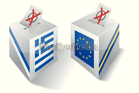election box with europe and greece