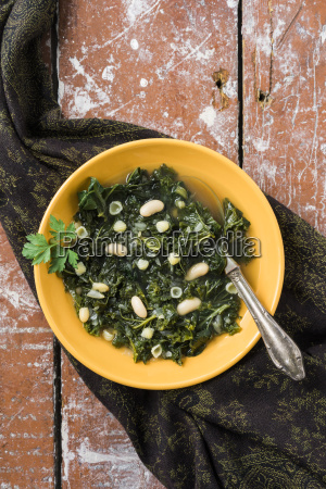 soup with kale canellini beans and