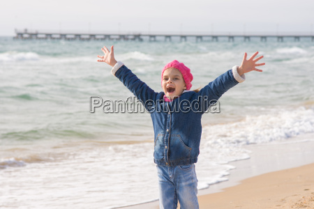 seven year girl rejoices arrival of