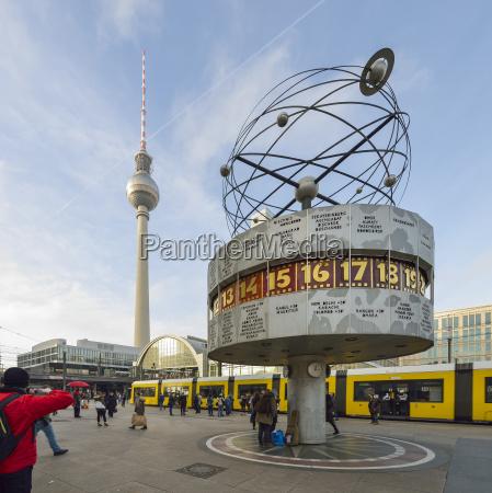 germany berlin alexanderplatz tv tower and