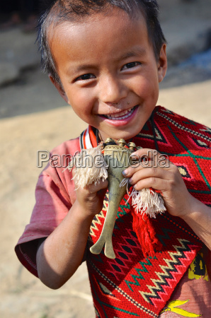 small child in nagaland india