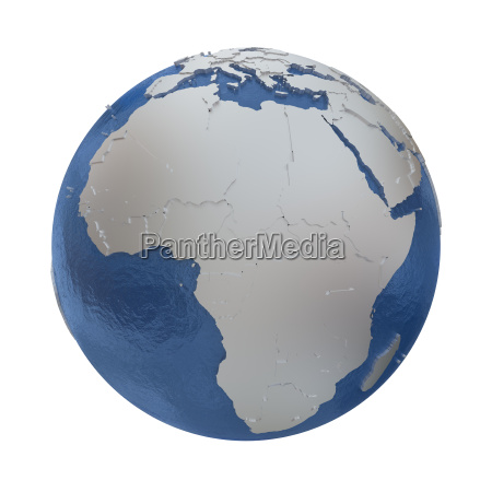 africa on silver earth
