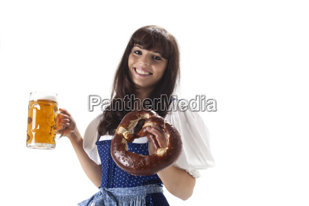 bavarian woman with a mass