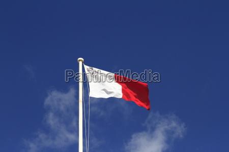 flag of malta on the pole