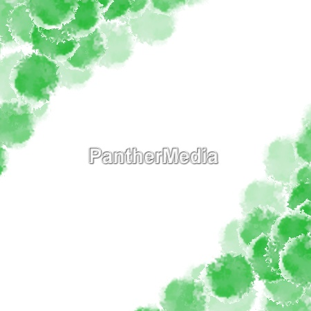 abstract green hand drawn watercolor background