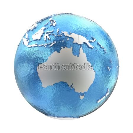 australia on silver earth