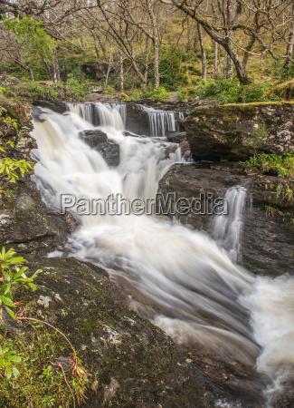 above the main waterfalls at inversnaid