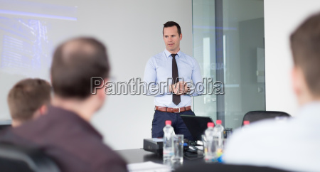 business presentation on corporate meeting
