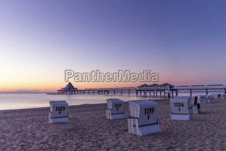 germany usedom heringsdorf sunrise at pier
