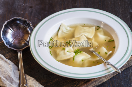 soup dish of swabian pockets soup