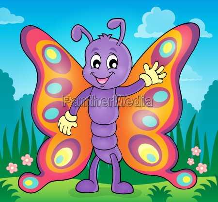 cheerful butterfly theme image 2