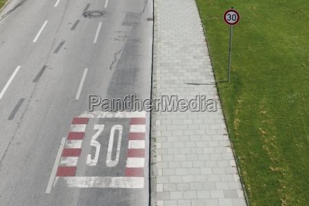 germany bavaria munich speed limit sign