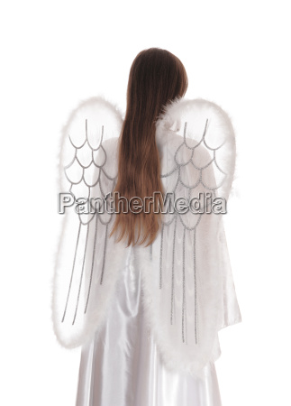 angel standing from back 3