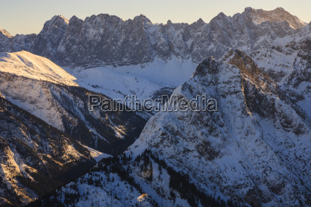austria tyrol karwendel mountains in winter