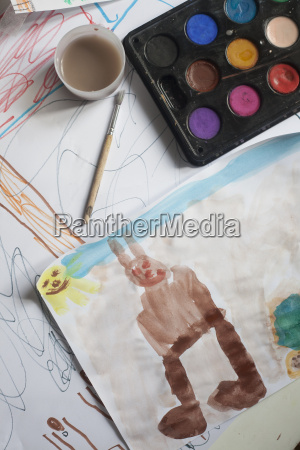 childrens watercolour painting