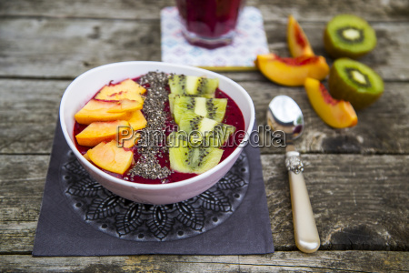 smoothie with fruits and chia seeds