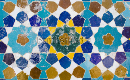 iran shiraz mosaic pattern with ceramic