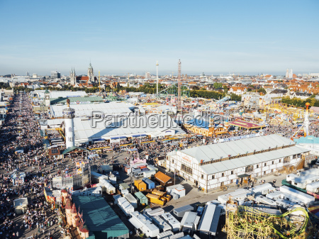 germany, , bavaria, , munich, , view, of, oktoberfest - 16988634