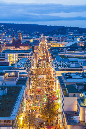 germany stuttgart shopping mile koenigstrasse at