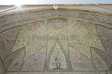 iran shiraz vakil mosque close up