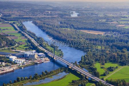 germany bavaria deggendorf danube river isar