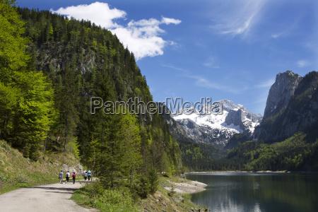 austria upper austria lake vorderer gosausee