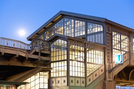 germany hamburg baumwall underground station