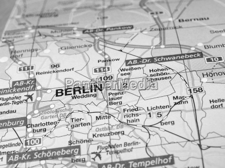 map detail with selective focus
