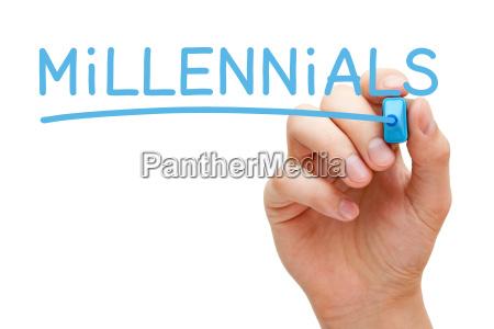 millennials blue marker