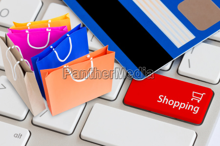 easy shopping online concept