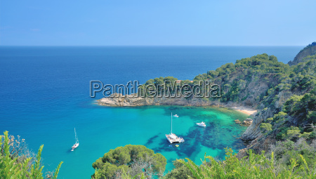 idyllic bay on the costa brava