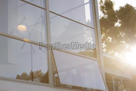 open window of modern house