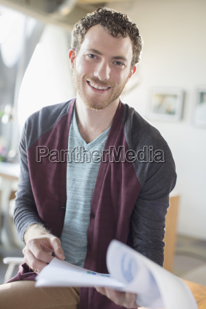 portrait of smiling casual businessman with