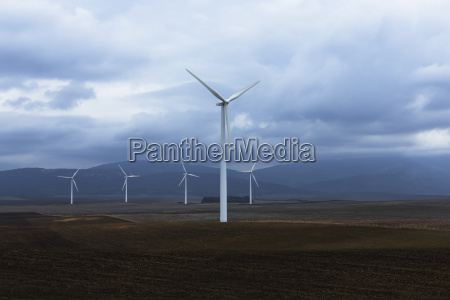 wind farm in valley andaluca spain