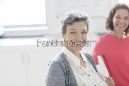 portrait of smiling mature businesswoman with