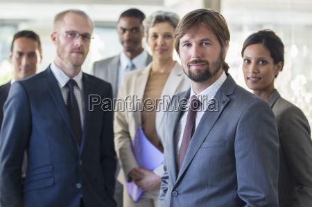 group portrait of successful office team