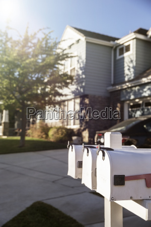 mailboxes outside house