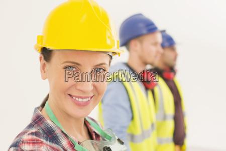portrait of confident construction worker