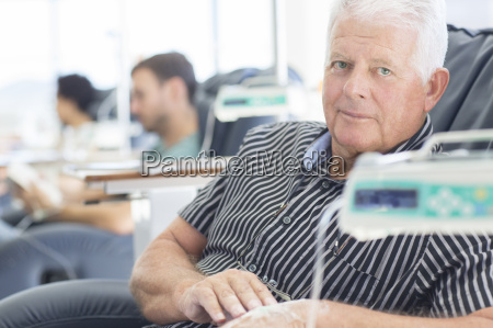 portrait of patient undergoing medical treatment