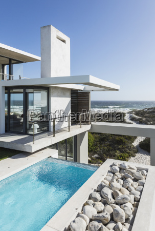 lap pool and balcony of modern
