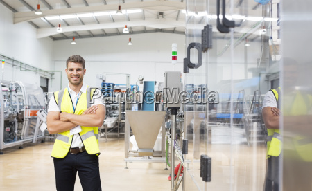 worker smiling in factory