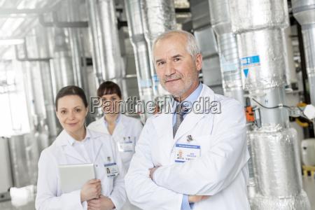 portrait of confident scientists